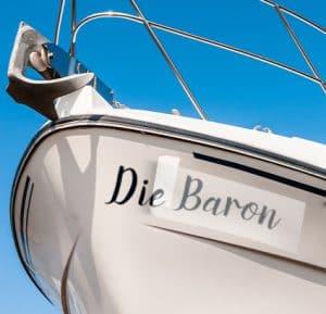Bootsbeschriftung von ihr-baron.de