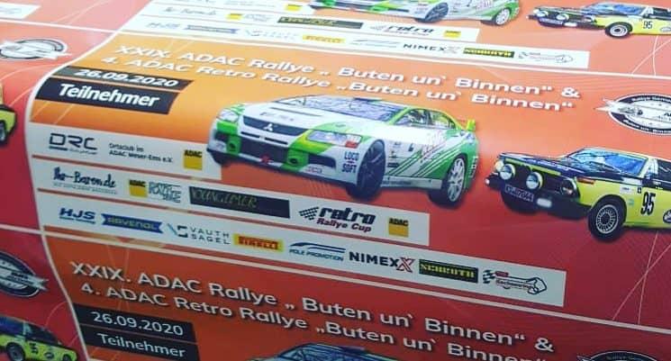 Ablösbare Werbeaufkleber für Rallye Fahrzeuge